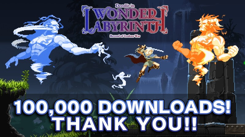 Record of Lodoss War: Deedlit in Wonder Labyrinth has sold over 100,000 copies in its first month of launch!